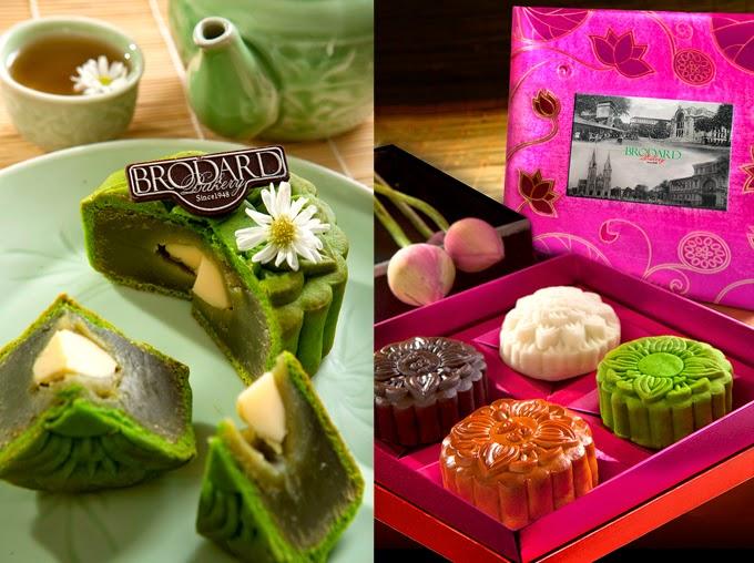 Bánh trung thu Brodard trà xanh và Nam Việt Quất