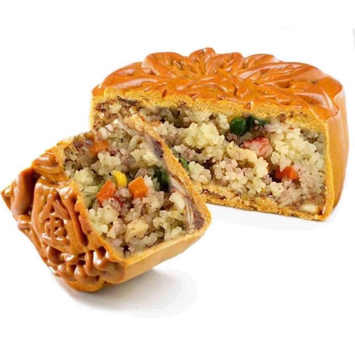 Bánh trung thu nhồi cơm chiên dương châu